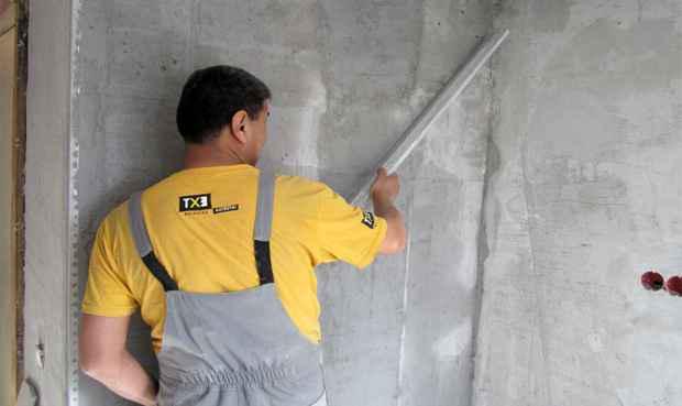 Штукатурные работы по бетону