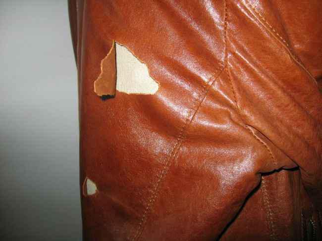 Ремонт курток из кожзама